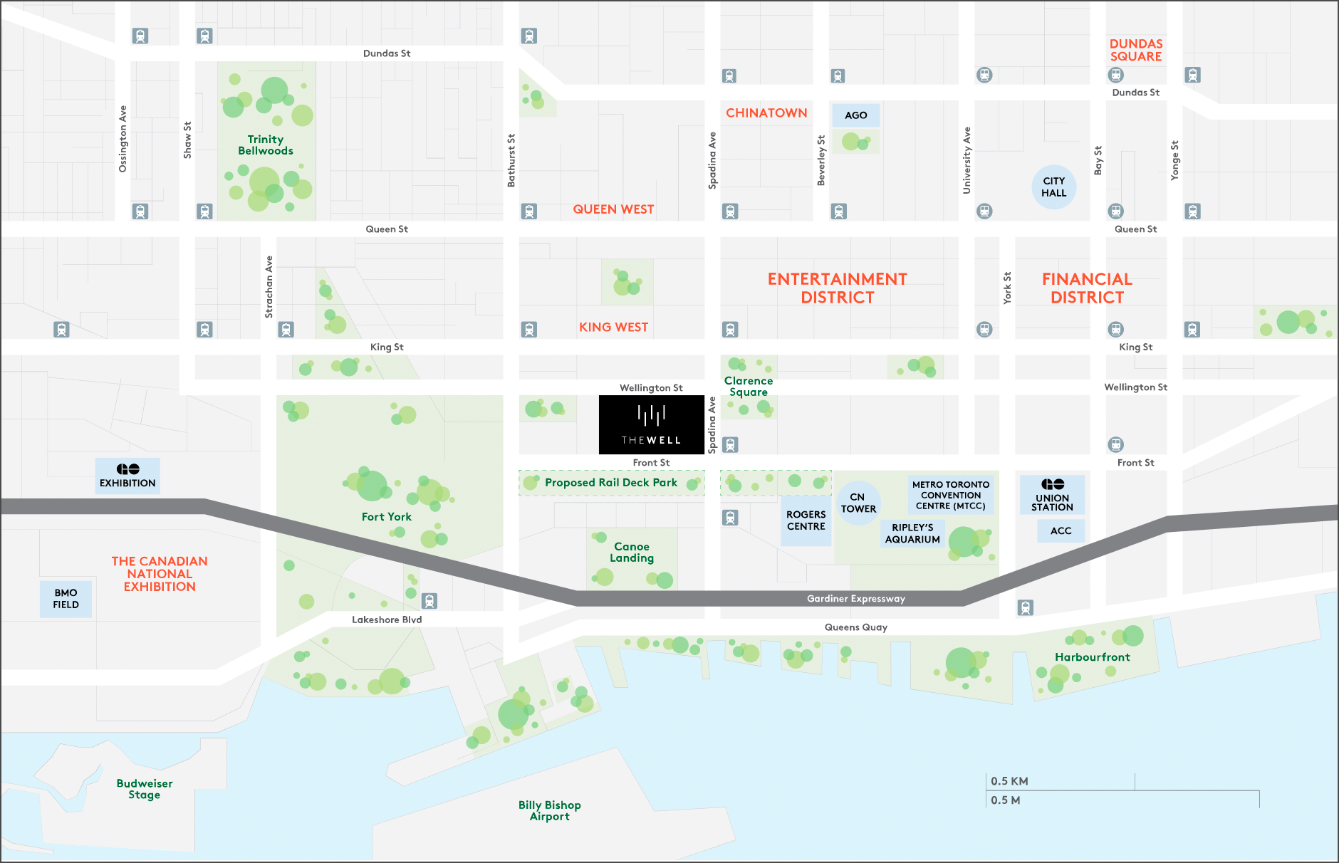 Area Map for The Well Toronto